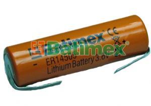 ER14505-FT 2.4Ah 3.6V AA 14.5x50.5mm plíšky na pájení
