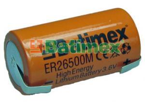 ER26500M-FT 3.6V C 26.5x50mm vysokoproudová plíšky na pájení