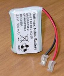 BCO504 300mAh NiMH 2,4V 2x2/3AAA - Baterie pro bezdrátové telefony