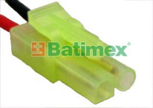Zástrčka Mini-Tamiya pozlacená Kabely silikon 0.75mm2 30cm