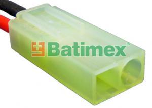 zásuvka(u) Mini-Tamiya pozlacená Kabely silikon 0.75mm2 30cm