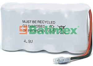 BCO108 600mAh 2.9Wh NiMH 4.8V 4x2/3AA - Baterie pro bezdrátové telefony