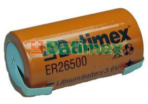ER26500-FT 9.0Ah 3.6V C 26.5x50mm plíšky na pájení