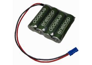 2000mAh 4.8V NiMH 9.6Wh 4xAA (4x1) BRC017 - Příslušenství k RC modelům