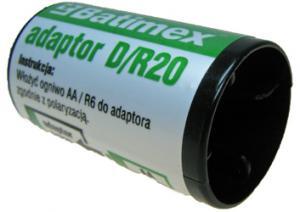 Batimex adaptér - přechodka z AA/R6 na D/R20 - Klasické nabíječky