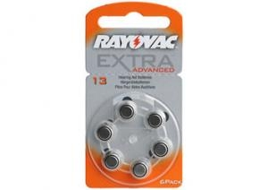 13 Rayovac Extra Advanced Special 1.4V 7.9x5.4mm
